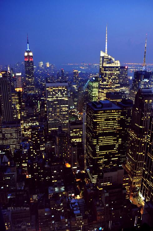 Vue depuis le Rockefeller Center