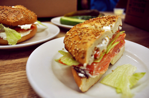 Lox & Cream Cheese Bagel @ Katz's Deli