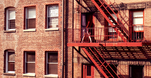 Homme sur son balcon, Meatpacking District