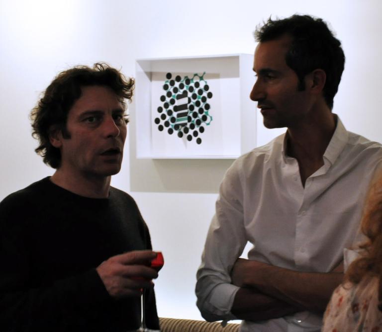 Jean-Marc Thommen, artiste, et Olivier Breuil, directeur de l'Hôtel Elysées Mermoz