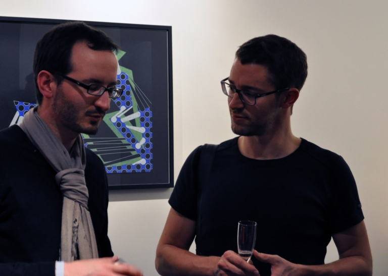Guillaume (Carpe Webem) et Vincent (Le blog de Vinz) à l'Hôtel Elysées Mermoz pour la soirée de présentation d'Art Ensuite