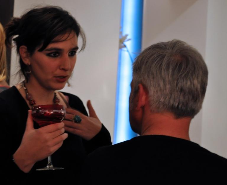 Charlotte Puertas, prochaine artiste à exposer à l'Elysées Mermoz (à partir de janvier) et Jérôme Boutterin, artiste qui exposait avant qu'Elodie Boutry n'investisse les lieux