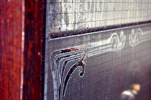 Amsterdam, détail vitre Art Déco Art Nouveau