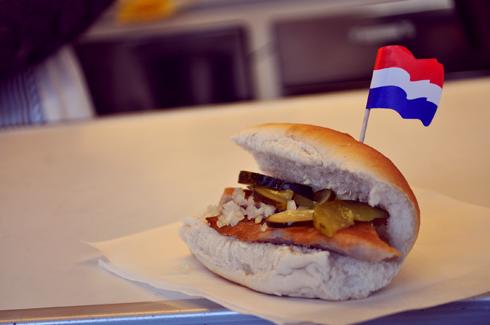 Amsterdam, sandwich au hareng