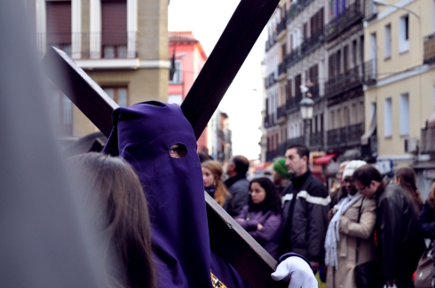 Madrid - Un pénitent durant la semaine sainte