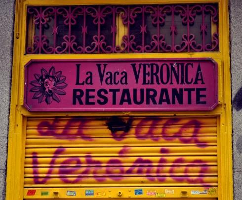 Madrid - Enseigne de restaurant