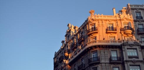 Madrid - Bel immeuble dans la lumière du soir