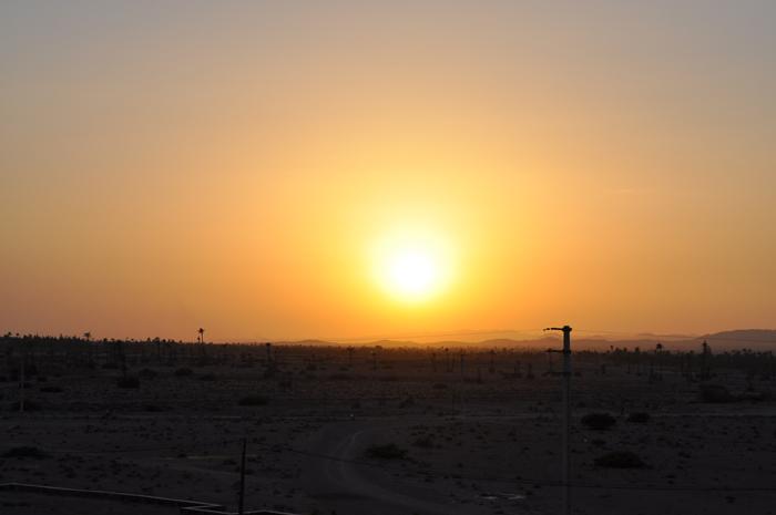 Coucher de soleil sur la Palmeraie, Marrakech