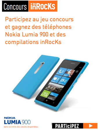 Concours: Gagnez un Nokia Lumia 900 !