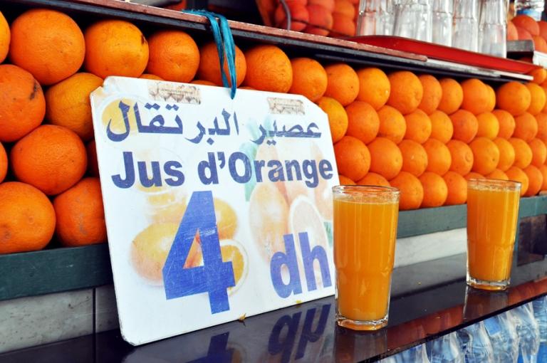 Marchands de jus d'orange Place Jemaa El Fna, Marrakech