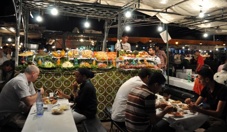 Place Jemaa El Fna de nuit, Marrakech