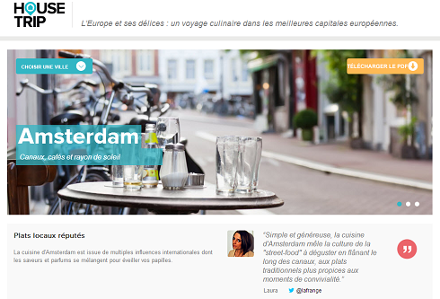 House Trip - Guide culinaire Amsterdam
