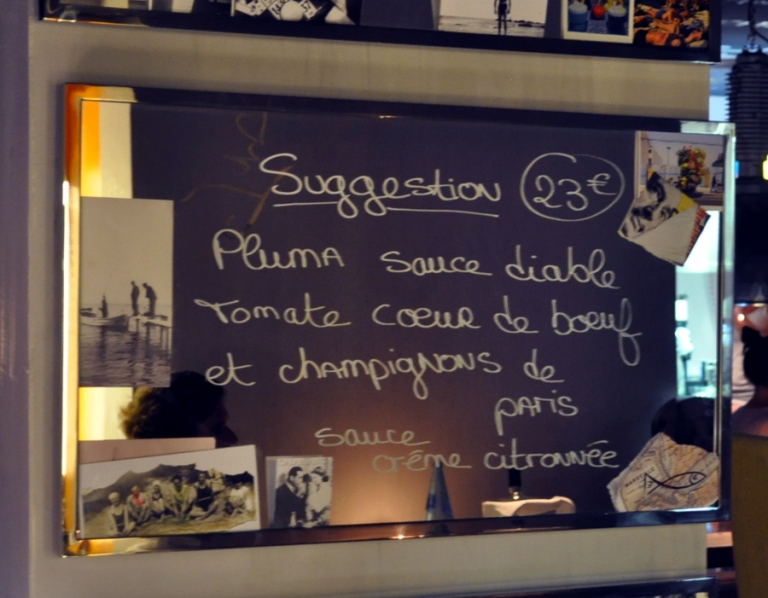 Menu du restaurant de l'hôtel Mama Shelter Marseille