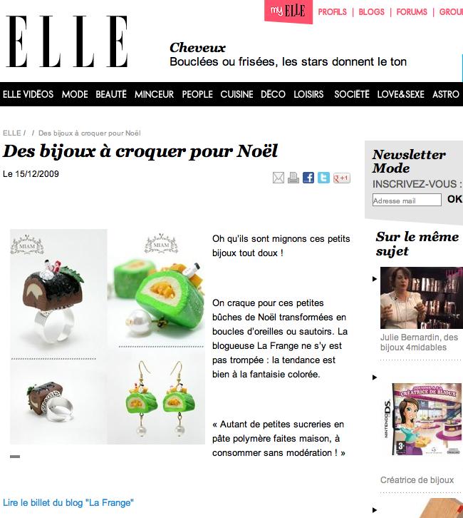 Article du blog de La Frange repris par Elle.fr