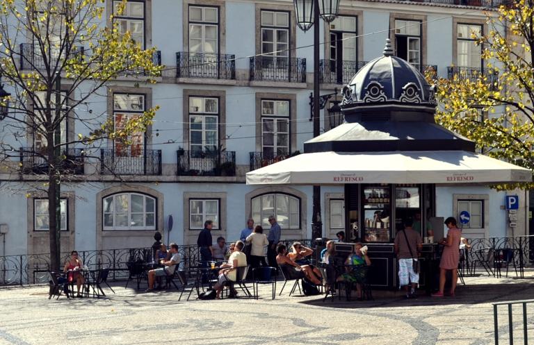 Terrasse de café Lisbonne