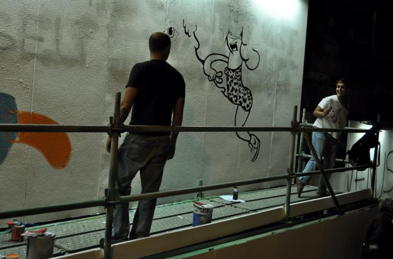 Street artists Lisbonne