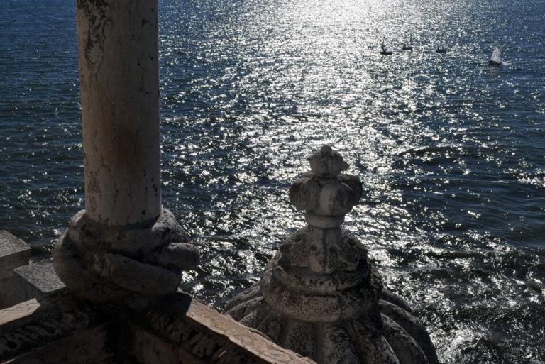 Vue sur le Tage depuis la Tour de Belém