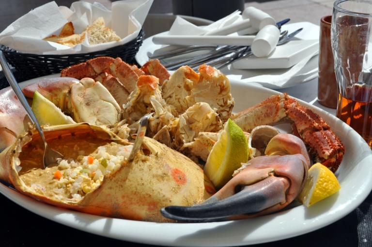Assiette de crabe