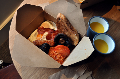 English Breakfast at Albion Bakery London