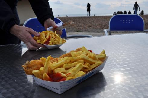 Fish & Chips à Brighton