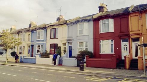 Les maisons multicolores de Brighton