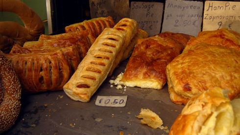 Boulangerie à Rethymnon, Crête