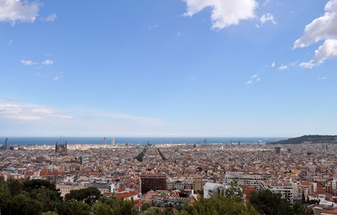 Vue du Parc Güell Barcelone