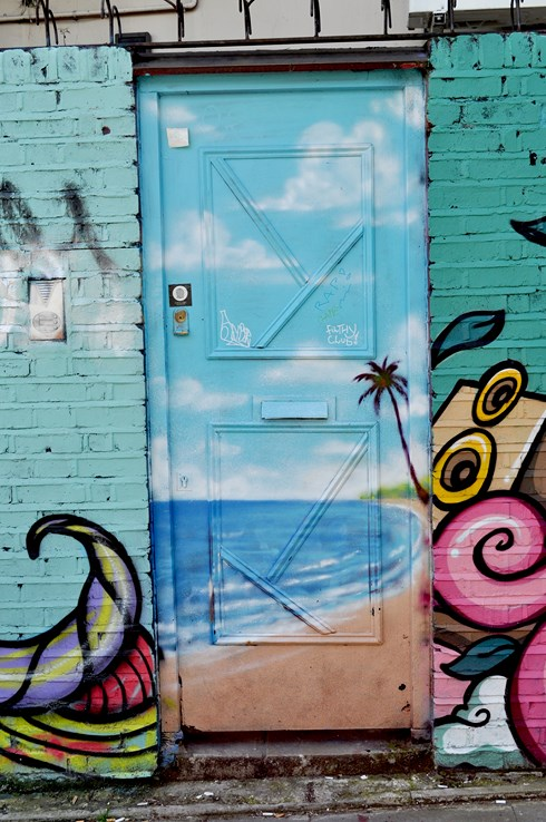 Beach Door Street Art