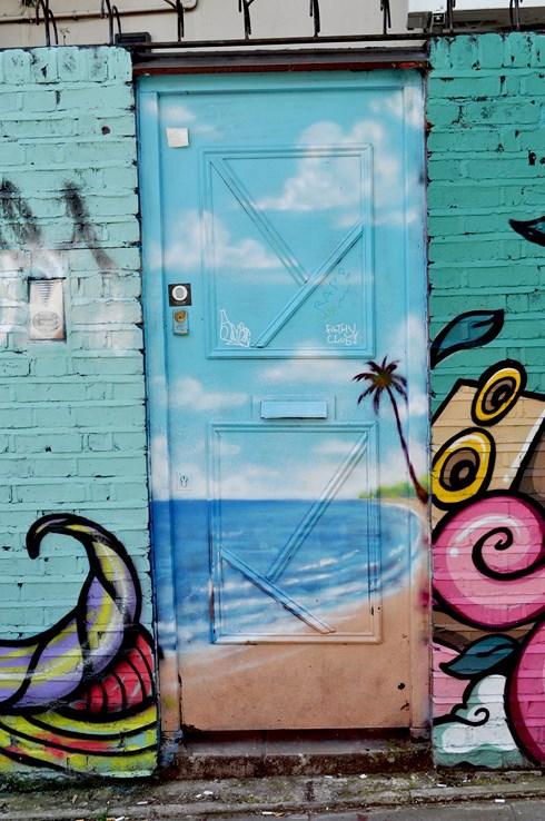 Beach Door Street Art