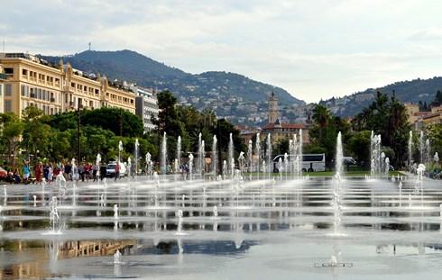Fontaines Promenade du Paillon Nice