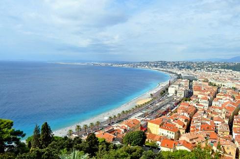 Vue du parc de la colline du château - Nice