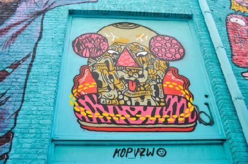 Street Art in Kopstraatje, Antwerp